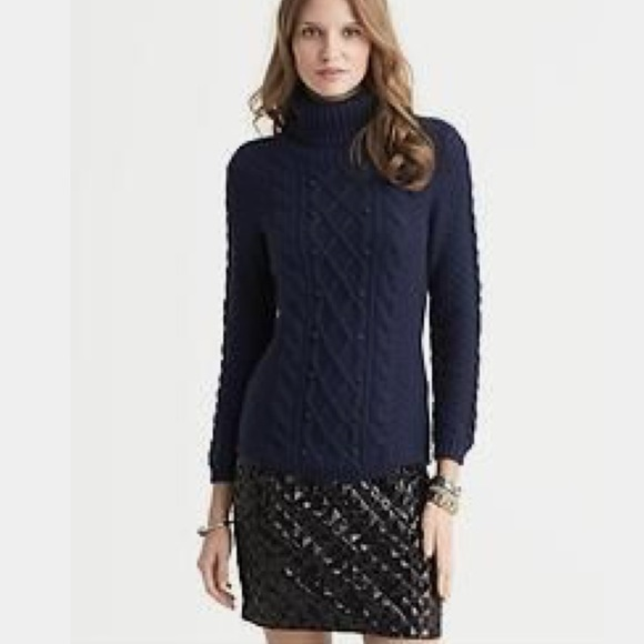 40184a984e8ce0 Banana Republic Sweaters - Banana Republic Heritage Navy Cable Knit Sweater  M